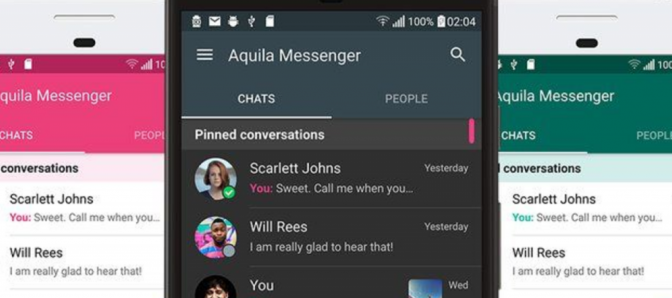 xda member developed messaging application twitter called aquila messenger