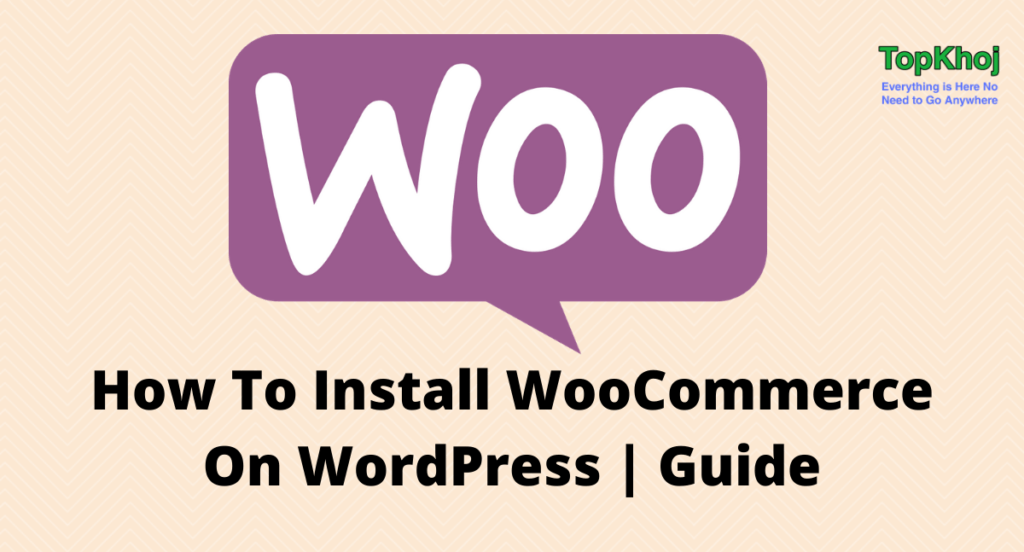 Install WooCommerce on WordPress
