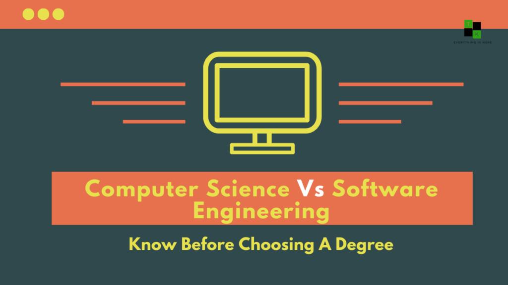 Computer Science Versus Software Engineering