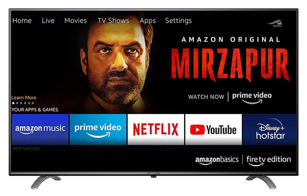 AmazonBasics Fire TV Edition Smart 4k Ultra HD LED Television 50 Inches